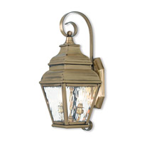 Exeter 2 Light 22 inch Antique Brass Outdoor Wall Lantern