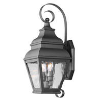 Livex Lighting Exeter 2 Light Outdoor Wall Lantern in Black 2602-04