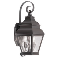 Livex Lighting Exeter 2 Light Outdoor Wall Lantern in Bronze 2602-07