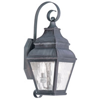 Livex Lighting Exeter 2 Light Outdoor Wall Lantern in Charcoal 2602-61