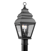 Livex 2603-04 Exeter 2 Light 22 inch Black Outdoor Post Head