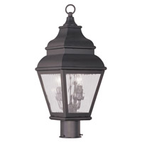 Livex 2603-07 Exeter 2 Light 22 inch Bronze Outdoor Post Head