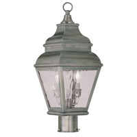 Exeter 2 Light 22 inch Vintage Pewter Outdoor Post Head