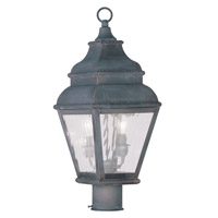 Livex 2603-61 Exeter 2 Light 22 inch Charcoal Outdoor Post Head