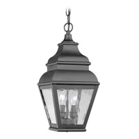 Livex Lighting Exeter 2 Light Outdoor Hanging Lantern in Black 2604-04