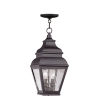 Livex 2604-07 Exeter 2 Light 8 inch Bronze Outdoor Hanging Lantern
