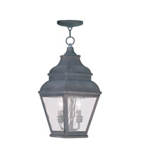 Livex 2604-61 Exeter 2 Light 8 inch Charcoal Outdoor Hanging Lantern