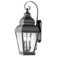 Livex Lighting Exeter 3 Light Outdoor Wall Lantern in Black 2605-04