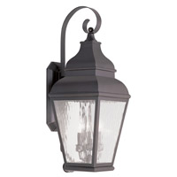 Livex Lighting Exeter 3 Light Outdoor Wall Lantern in Bronze 2605-07
