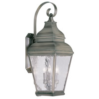Livex Lighting Exeter 3 Light Outdoor Wall Lantern in Vintage Pewter 2605-29