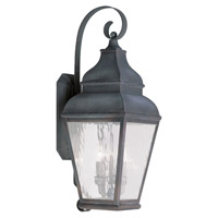 Livex Lighting Exeter 3 Light Outdoor Wall Lantern in Charcoal 2605-61