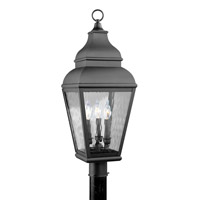 Livex 2606-04 Exeter 3 Light 30 inch Black Outdoor Post Head