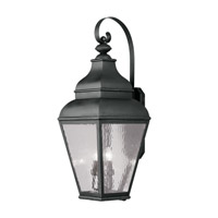 Exeter 4 Light 38 inch Black Outdoor Wall Lantern