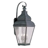 Exeter 4 Light 38 inch Charcoal Outdoor Wall Lantern