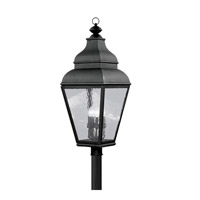 Livex Lighting Exeter 4 Light Outdoor Post Head in Black 2608-04 photo thumbnail