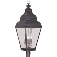 Livex 2608-07 Exeter 4 Light 38 inch Bronze Outdoor Post Head