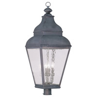 Livex Lighting Exeter 4 Light Outdoor Post Head in Charcoal 2608-61