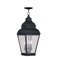 Livex Lighting Exeter 3 Light Outdoor Hanging Lantern in Black 2610-04
