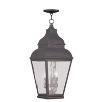 Livex 2610-07 Exeter 3 Light 10 inch Bronze Outdoor Hanging Lantern