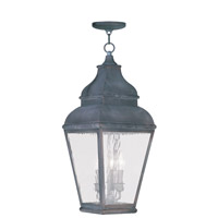 Livex Lighting Exeter 3 Light Outdoor Hanging Lantern in Charcoal 2610-61 photo thumbnail