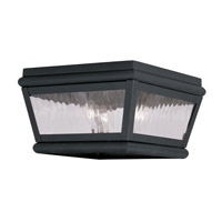 Livex Lighting Exeter 2 Light Outdoor Ceiling Mount in Black 2611-04