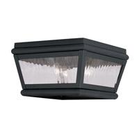 Livex 2611-04 Exeter 2 Light 8 inch Black Outdoor Ceiling Mount