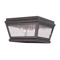 Livex 2611-07 Exeter 2 Light 8 inch Bronze Outdoor Ceiling Mount