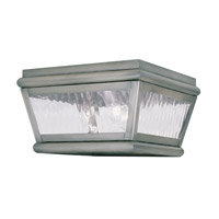 Livex Lighting Exeter 2 Light Outdoor Ceiling Mount in Vintage Pewter 2611-29