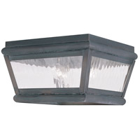 Livex 2611-61 Exeter 2 Light 8 inch Charcoal Outdoor Ceiling Mount