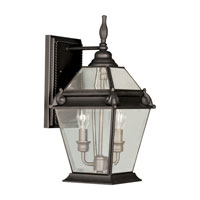 Livex 2614-07 Fleur de Lis 2 Light 16 inch Bronze Outdoor Wall Lantern