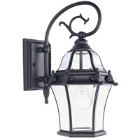 Fleur de Lis 1 Light 17 inch Bronze Outdoor Wall Lantern