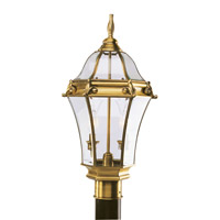 Fleur de Lis 2 Light 22 inch Flemish Brass Outdoor Post Head