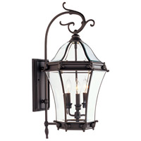 Fleur de Lis 3 Light 29 inch Bronze Outdoor Wall Lantern
