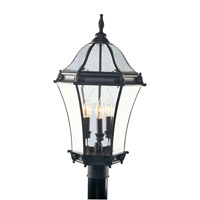 Livex Lighting Fleur de Lis 3 Light Outdoor Post Head in Bronze 2624-07
