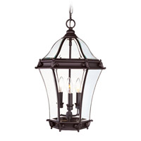 Fleur de Lis 3 Light 14 inch Bronze Outdoor Hanging Lantern