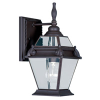 Livex Lighting Fleur de Lis 1 Light Outdoor Wall Lantern in Bronze 2627-07