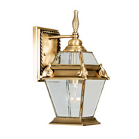Livex Lighting Fleur de Lis 1 Light Outdoor Wall Lantern in Flemish Brass 2627-22