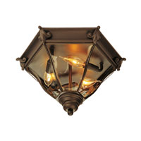 Livex Lighting Fleur de Lis 3 Light Outdoor Ceiling Mount in Bronze 2628-07