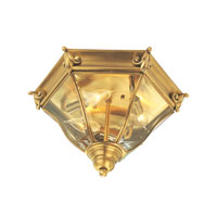 Livex Fleur de Lis 3 Light Outdoor Ceiling Mount in Flemish Brass 2628-22 photo thumbnail