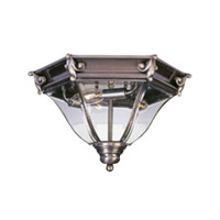 Livex Lighting Fleur de Lis 3 Light Outdoor Ceiling Mount in Vintage Pewter 2628-29