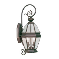 Livex Lighting Bradford 2 Light Outdoor Wall Lantern in Bronze 2631-07