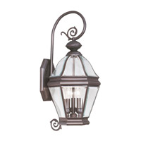 Livex Lighting Bradford 3 Light Outdoor Wall Lantern in Bronze 2632-07