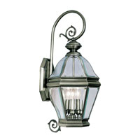 Livex Lighting Bradford 3 Light Outdoor Wall Lantern in Vintage Pewter 2632-29