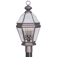 Livex Lighting Bradford 3 Light Outdoor Post Head in Bronze 2633-07