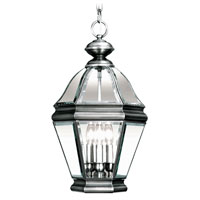 Livex 2634-29 Bradford 3 Light 11 inch Vintage Pewter Outdoor Hanging Lantern