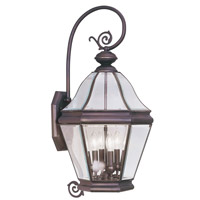 Livex Lighting Bradford 4 Light Outdoor Wall Lantern in Bronze 2635-07