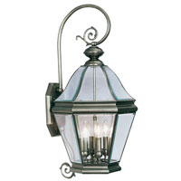 Livex Lighting Bradford 4 Light Outdoor Wall Lantern in Vintage Pewter 2635-29