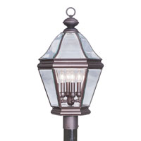 Livex 2636-07 Bradford 4 Light 27 inch Bronze Outdoor Post Head