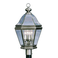 Bradford 4 Light 27 inch Vintage Pewter Outdoor Post Head
