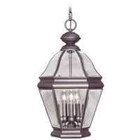 Livex Lighting Bradford 4 Light Outdoor Hanging Lantern in Bronze 2637-07